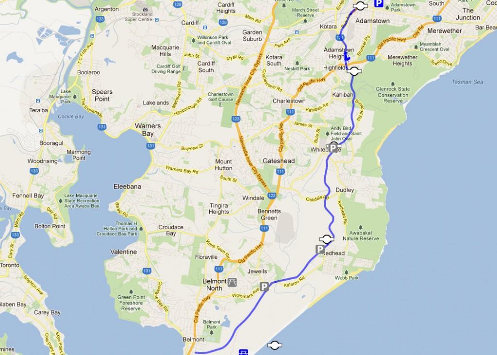 Fernleigh Track Map